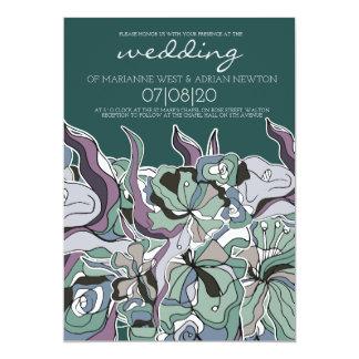SpringLeaves Pastel Forest Wedding Invitation
