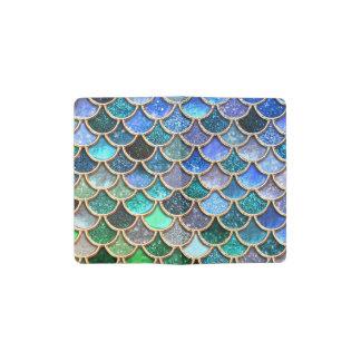 Springlike multicolor Glitter Mermaid Scales Pocket Moleskine Notebook