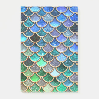 Springlike multicolor Glitter Mermaid Scales Post-it Notes