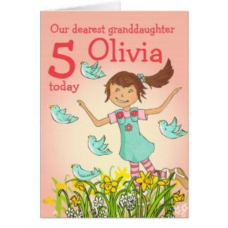 """Spring's in the air"" granddaughter age card"