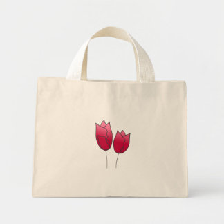 Springs  tulips mini tote bag