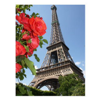 Springtime At Eiffel Tower Postcard