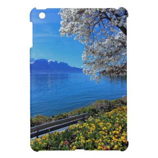 Springtime at Geneva or Leman lake, Montreux, Swit iPad Mini Cases