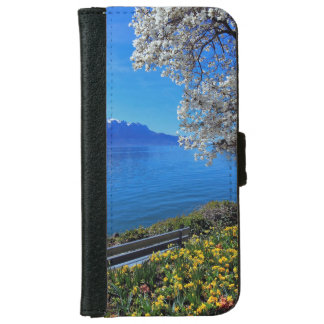 Springtime at Geneva or Leman lake, Montreux, Swit iPhone 6 Wallet Case