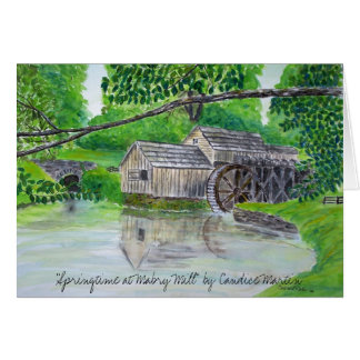 """Springtime at Mabry Mill""  Card"