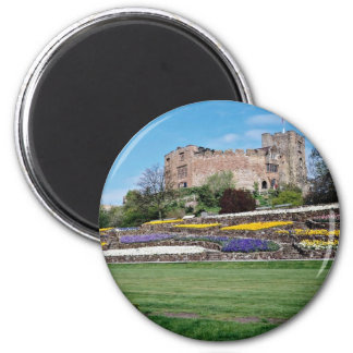 Springtime at Tamworth Castle  flowers Magnet