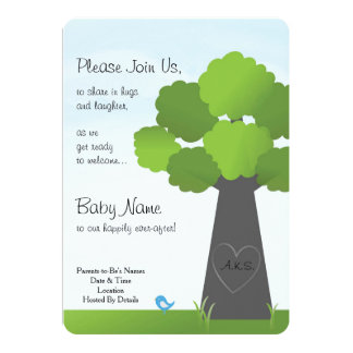 Springtime Baby Announcement or Shower Invitation