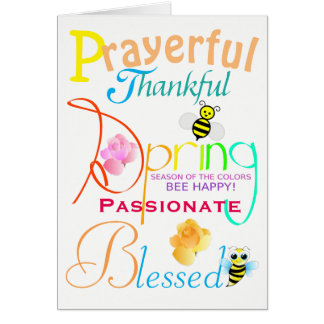 "Springtime ""Be Happy"" Encouragement Card"