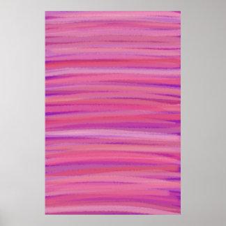 Springtime Blush Abstract Art Poster Print