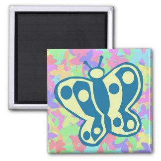 Springtime Butterflies Magnet Square