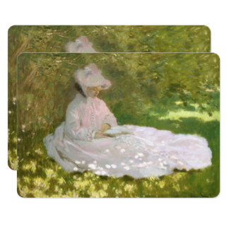 Springtime by Claude Monet Card