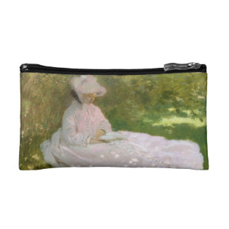 Springtime by Claude Monet Cosmetic Bag
