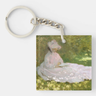 Springtime by Claude Monet Key Ring