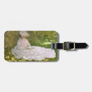 Springtime by Claude Monet Luggage Tag