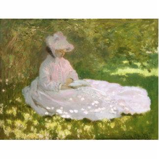 Springtime by Claude Monet Photo Sculpture Badge