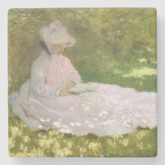 Springtime by Claude Monet Stone Coaster