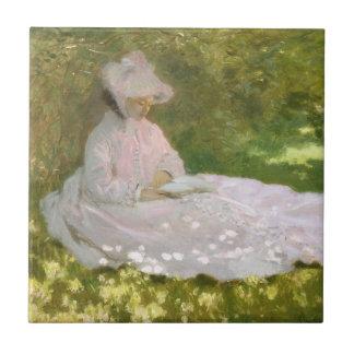 Springtime by Claude Monet Tile
