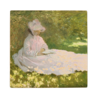 Springtime by Claude Monet Wood Coaster