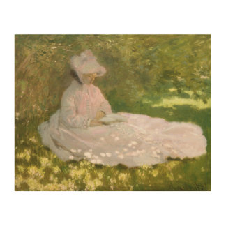 Springtime by Claude Monet Wood Wall Art