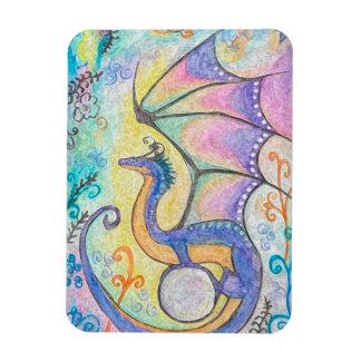 Springtime Dragon Rectangular Photo Magnet