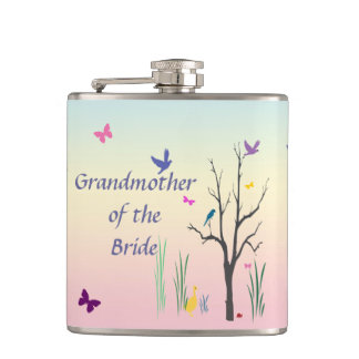 Springtime Grandmother of the Bride Flasks