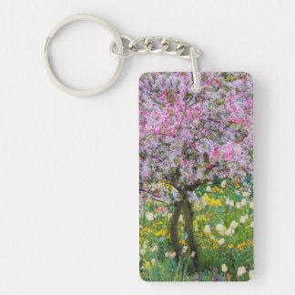 Springtime in Claude Monet's garden Key Ring