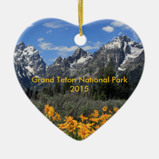 Springtime in Grand Teton National Park Customized Ceramic Ornament