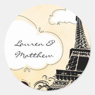 Springtime in Paris Eiffel Tower Classic Round Sticker