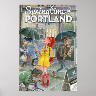 Springtime in Portland Poster