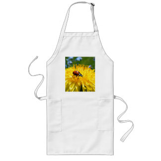 Springtime Ladybird on Dandelion Long Apron