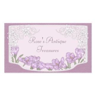 Springtime Purple Crocus Flowers Business Card Templates