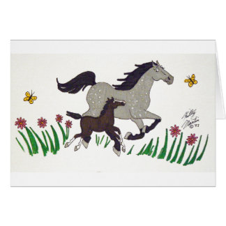 Springtime Romp(Gray ) Card