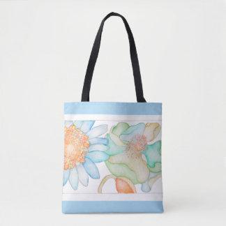 Springtime shopping tote bag