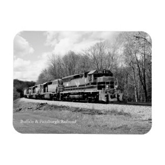 Springtime Train B&W Magnet
