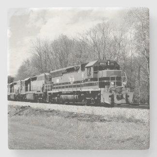 Springtime Train Stone Coaster