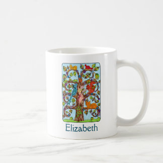 Springtime Tree of Life Personalized Coffee Mug