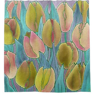 Springtime Tulips Design Shower Curtain
