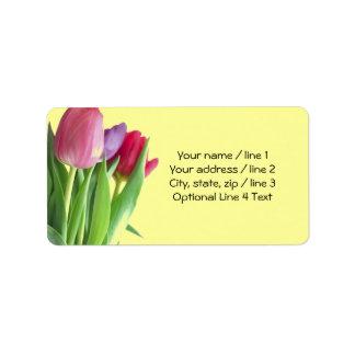 Springtime Tulips Label