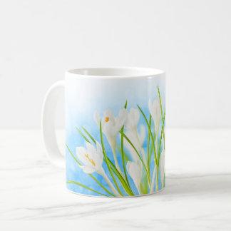 Springtime (white crocuses) coffee mug