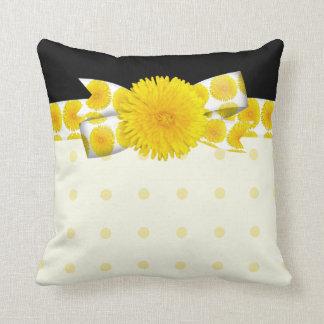 Springtime Yellow Dandelion Wedding Cushion