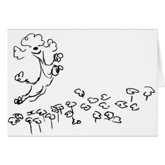 Springy Poodle Card