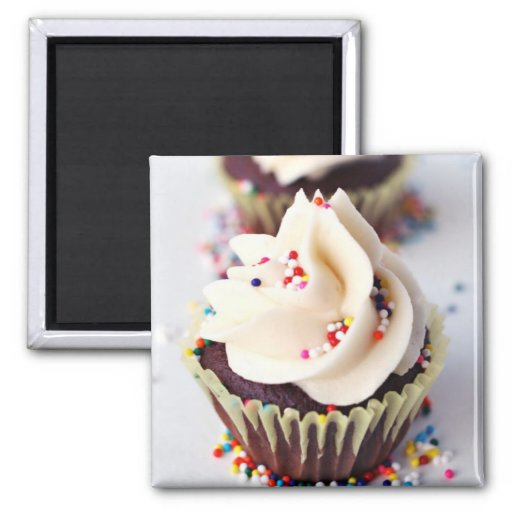 Sprinkle Cupcakes Square Magnet