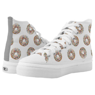 Sprinkle Donut High Tops - Yummy Printed Shoes