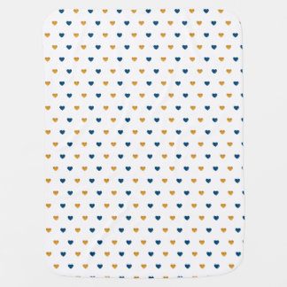 Sprinkle Hearts (Navy/Gold) Baby Blanket