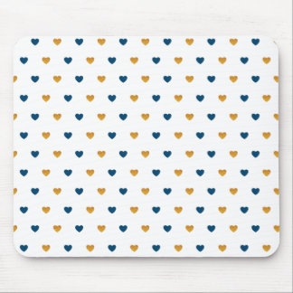 Sprinkle Hearts (Navy/Gold) Mouse Pad