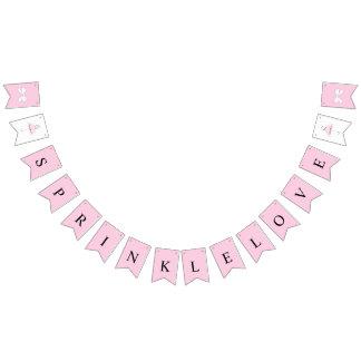 Sprinkle Love Baby Pink Girl Shower Bunting Banner