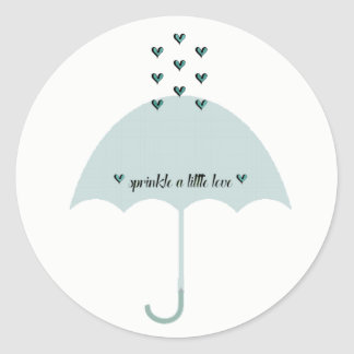 Sprinkle Love Blue Tiffany Party Stickers