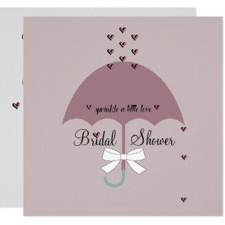 Sprinkle Love Mauve & Gray Bridal Party Invitation