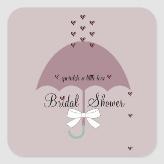Sprinkle Love Mauve & White Shower Party Stickers