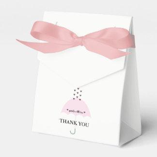 Sprinkle Love Pink Girl Shower Favor Boxes